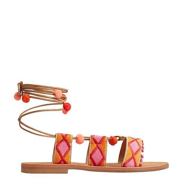 Zomerse meisjes sandalen van Mango #pompom