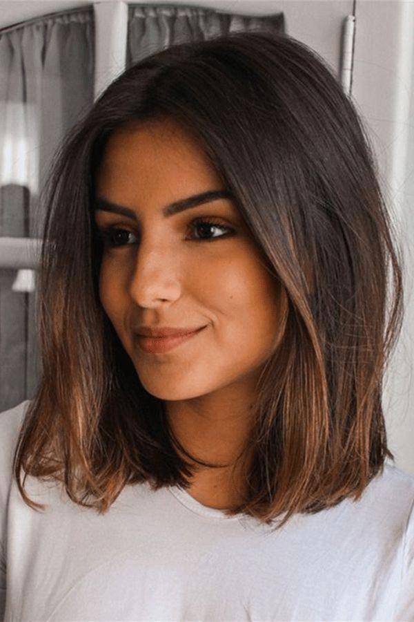 Medium Natural Straight Human Hair Women Wig In 2020 Medium Length Hair Styles Haircut For Thick Hair Medium Hair Styles