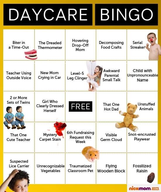 daycare bingo  haha  so funny