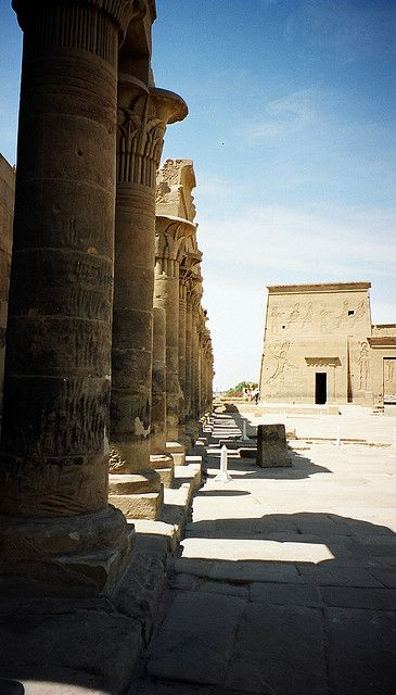 Egypt - Philae. Proof Im an Egypt nerd. This wasnt labelled before, but I recognized it almost immediately. I need to stop reading. What I wouldnt give to travel Egypt for a month or two? Heck, even a week or two would make me happy.
