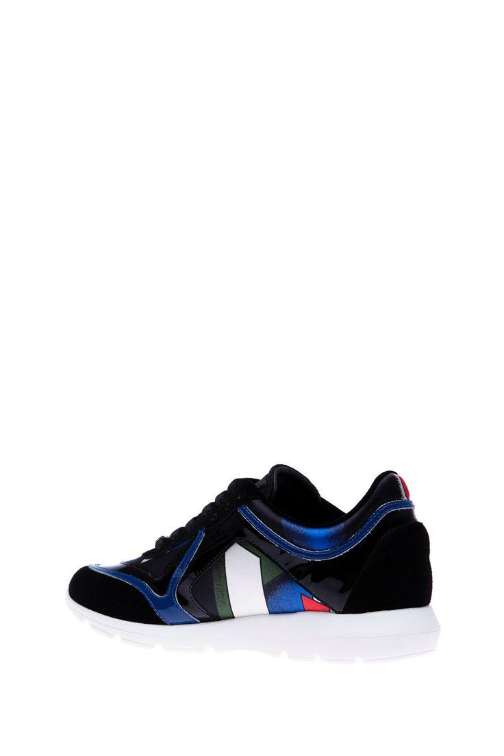Richmond - Комбинированные кроссовки на высокой подошве, с принтом и фирменным логотипом http://oneclub.ua/krossovki-33881.html#product_option23