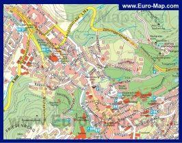 Карта города Баден-Баден