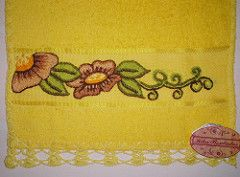 TOALHAS/TOWELS (Kika Bordados by Angelica Krauss) Tags: flores handmade embroidery towel artes artesanatos flowes bordados croche toalhas angelicakrauss