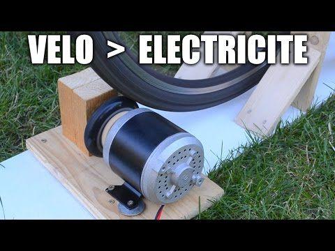 Vélo → Electricité : Incroyables Expériences [84] Electricité avec un vélo / Vélo générateur - YouTube