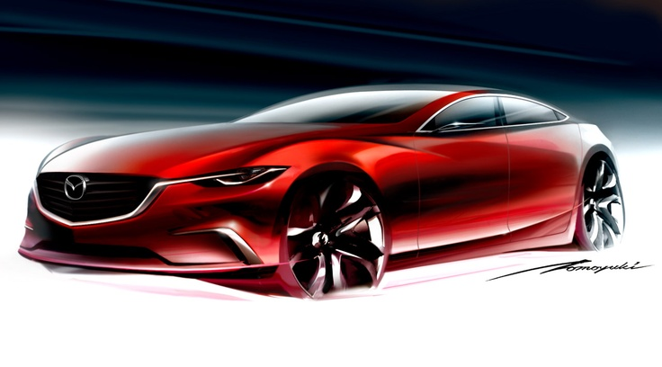 2011 - Mazda Takeri Concept Car sketch (KODO Design Language)