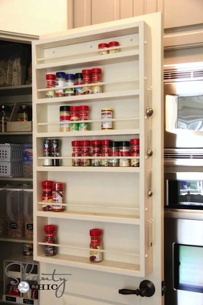 How-To: Pantry Door Spice Rack