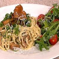 Fersk pasta med kantareller - oppskrift