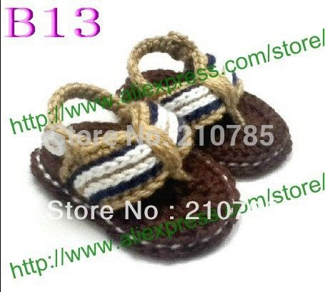 Crochet Baby Sandals, Baby Brown Flip Flops, Knitting Baby Shoes, baby bootee Sizes 0-12 Months,30pair/lot Free Shipping #Affiliate