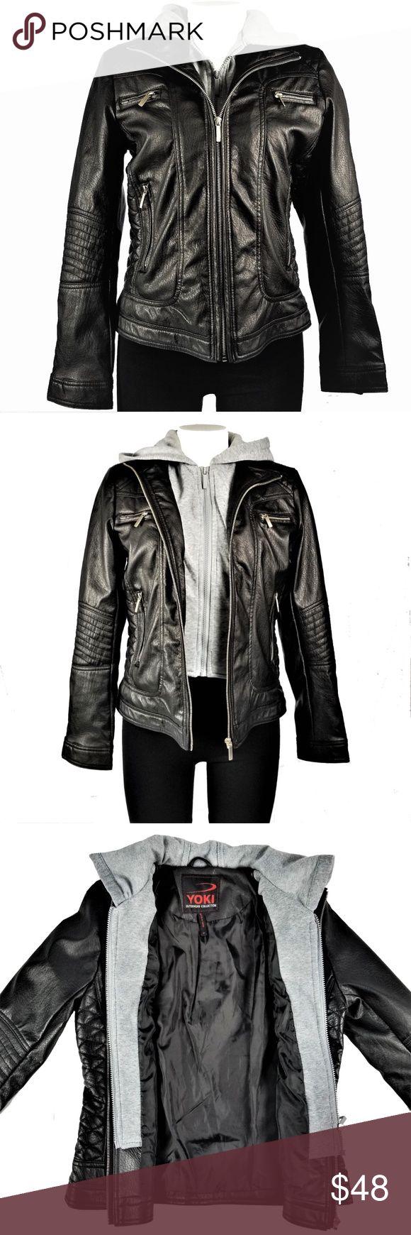 Yoki Outerwear Collection Moto Jacket Layered Black Faux Leather Jacket Yoki Jackets [ 1740 x 580 Pixel ]