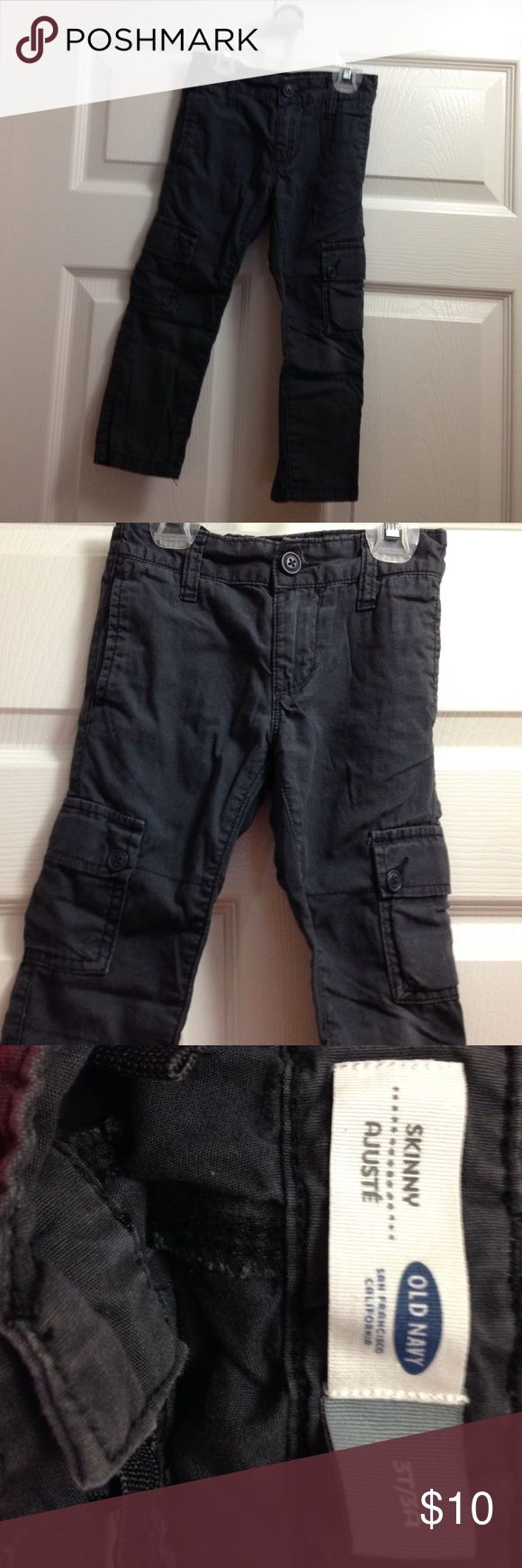 Old navy skinny cargo pants Cute old navy skinny cargo pants.  Dark grayish color. Has adjustable waist. Perfect condition only worn one time! Old Navy Bottoms Casual