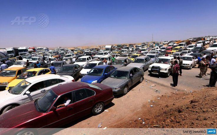 #Instantané Au check-point d'Aski Kalak, près d'Arbil pic.twitter.com/Q7xnwfwVaf #AFP #Irak