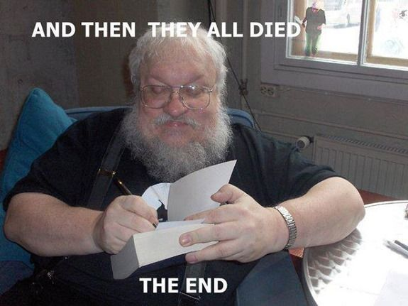 "Game of Thrones. That probably will be how he ends it! ""20 Funniest Twitter Reactions to the Red Wedding"""