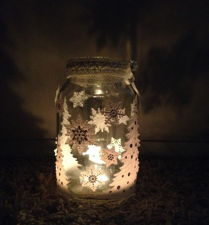 Simple Handmade Jar_with stickers_for Cristmas