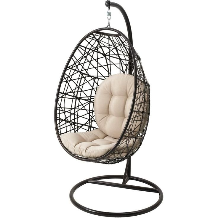 Instyle outdoor montauk wicker hanging basket chair home