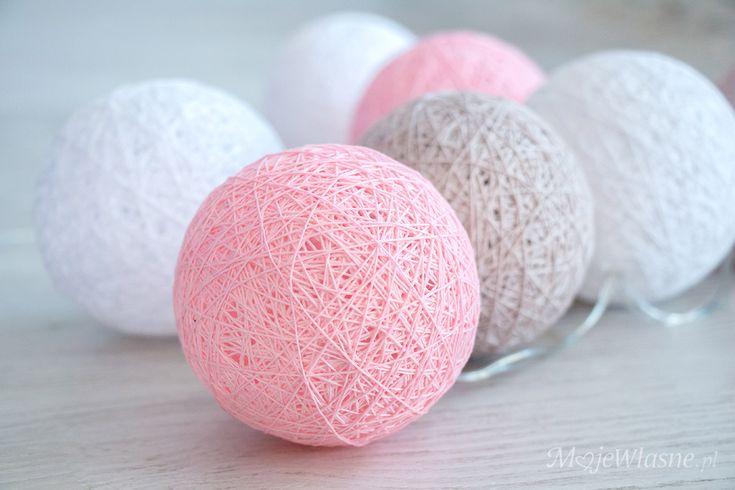 cotton balls light DIY 5