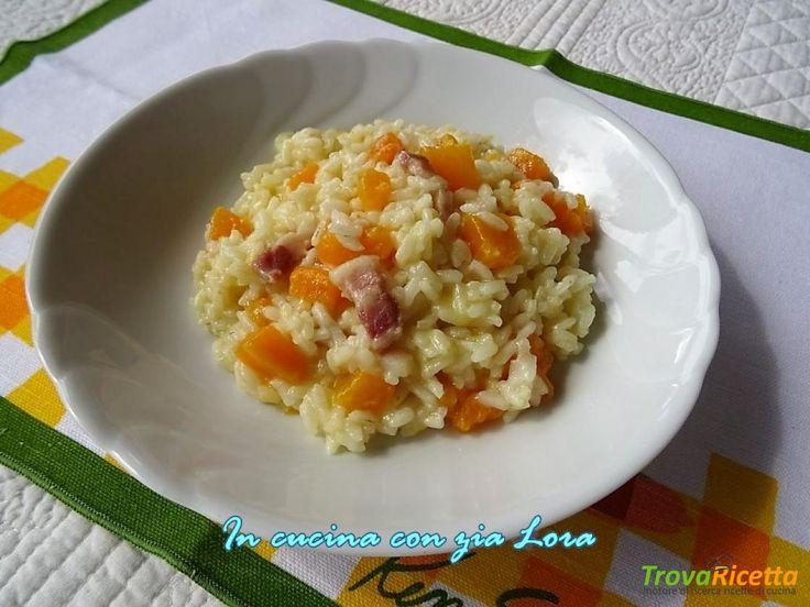Risotto con zucca gialla e pancetta affumicata  #ricette #food #recipes