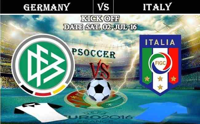 Germany vs Italy 02.07.2016 Free Soccer Predictions, head to head, preview, predictions score, predictions under/over EURO Cup Quarter Finals