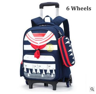 Brand Kids Rolling Backpacks For School Children's Trolley bag On wheels School Boy's Girls Trolley Suitcase Kids luggage Bags