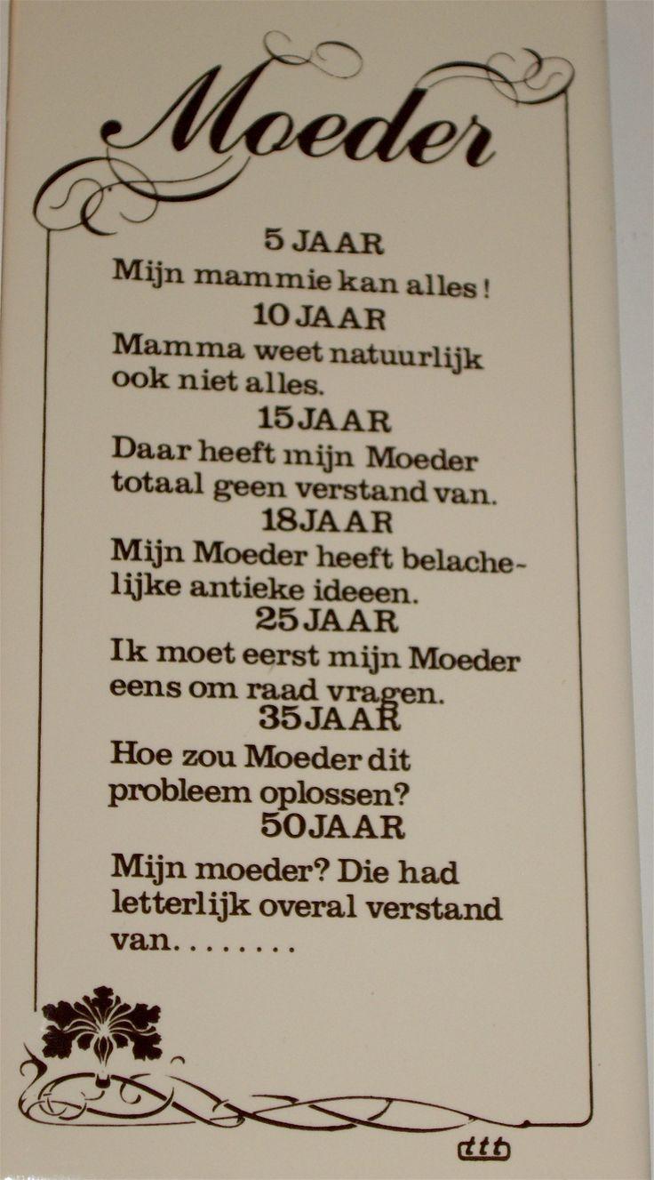 Tekst voor moeders