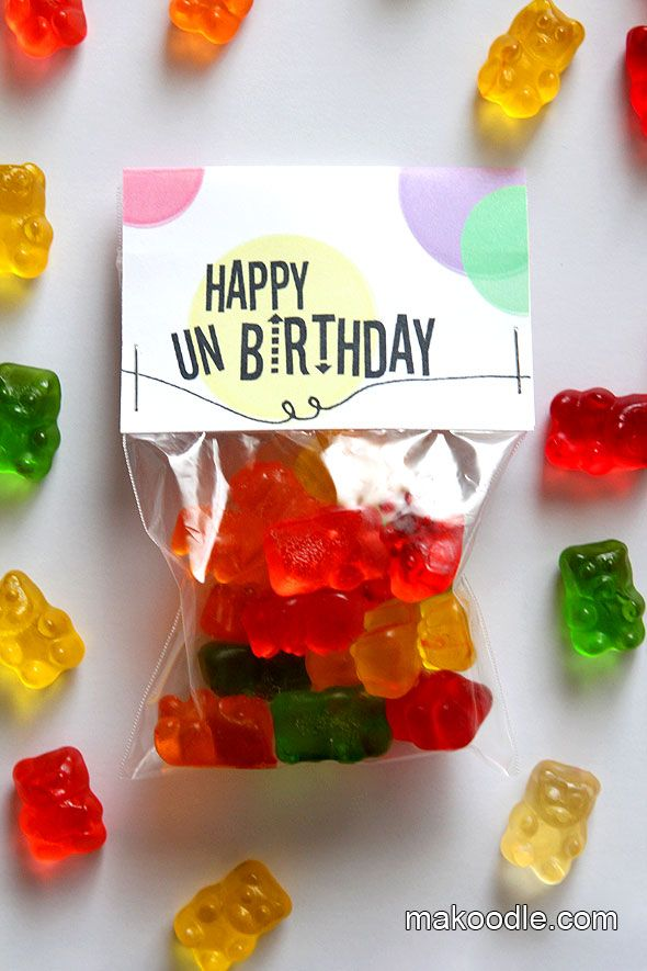 """For kids with summer birthdays...Let them celebrate their """"Unbirthday"""" with their classmates during the school year.  Great idea!: Party Favors, Unbirthday Parties, Happy Unbirthday, Merry Unbirthday, Birthday Printable, Parties Favors, Happy Un Birthday, Summer Birthday, Birthday Ideas"""