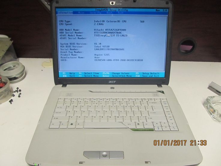 Acer Aspire 5315 LAPTOP FOR PARTS OR REPAIR