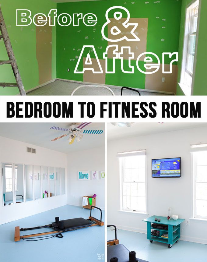 DIY Budget Makeover: How to turn an extra bedroom into a Fitness Room.