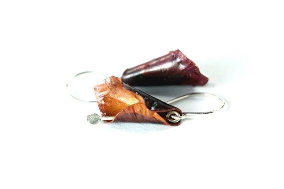 Fold Formed Copper Earrings Copper Lily Earring by FoldFormations