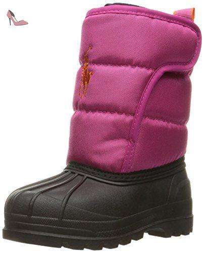 Ralph Lauren Hamilten II EZ, Bottes de Neige Fille, Mehrfarbig (Active Pink Heavy Nylon W/ Orange Pp), 34 EU - Chaussures polo ralph lauren (*Partner-Link)