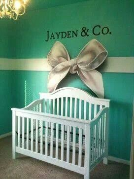 Tiffany U0026 Co. Inspired Baby Nursery.