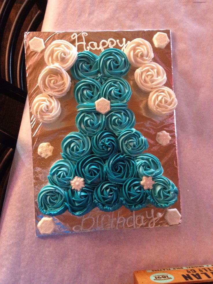Frozen Cupcake Birthday Cakes