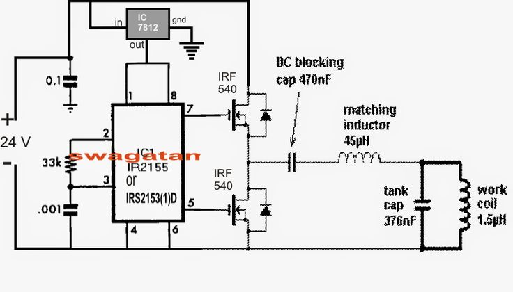circuit design electronic heating induction heating
