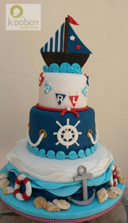 Nautical Baby Cake kooben