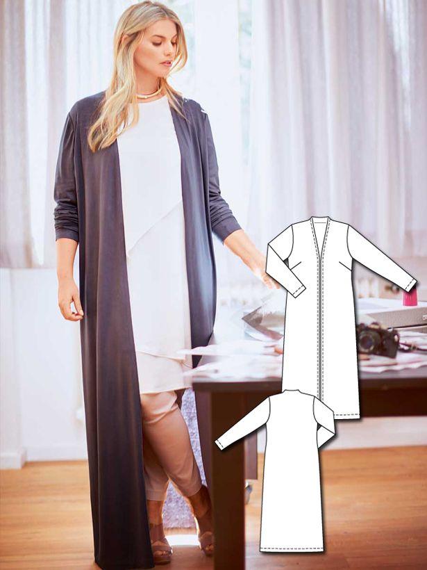 Long Jersey Cardigan (Plus Size) 02/2016 #131