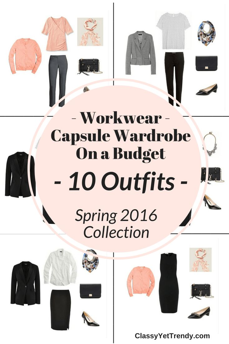 Workwear Capsule Wardrobe On a Budget: 10 Spring Outfits - Look polished and professional!