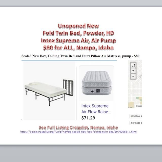 New Twin Fold Bed And Air Mattress Pump For Sale Boise Nampa Idaho See The Pix For A Link And Full Info Air Mattress Nampa Mattress