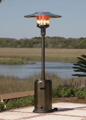 Fire Sense Hammer Tone Bronze Commercial Patio Heater By Fire. $179.99.  Patented Aluminum Reflector