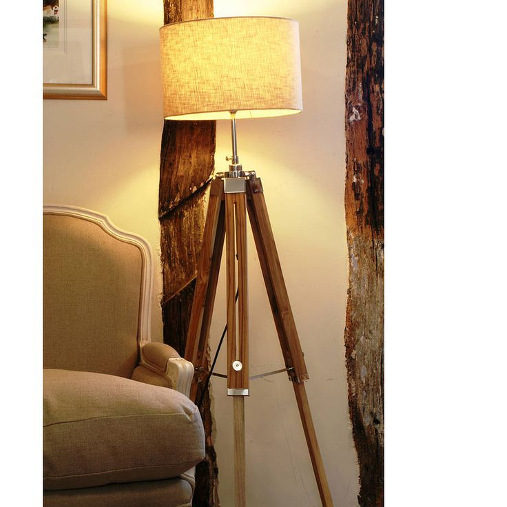 lamp wooden grey fancy floor decorating furniture tripod faves wood pinterest