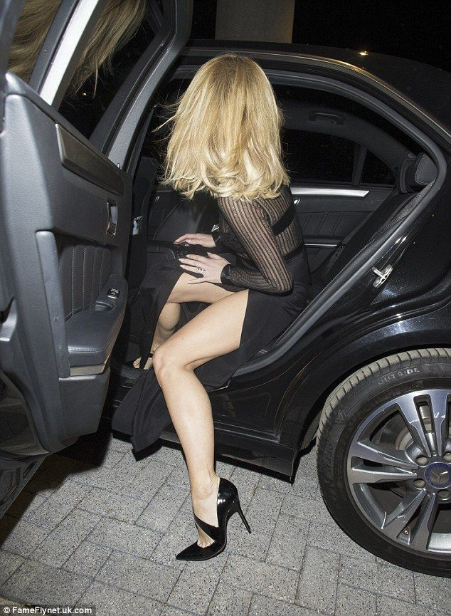 Whoops! As she got into the car the BGT judge almost revealed too much...