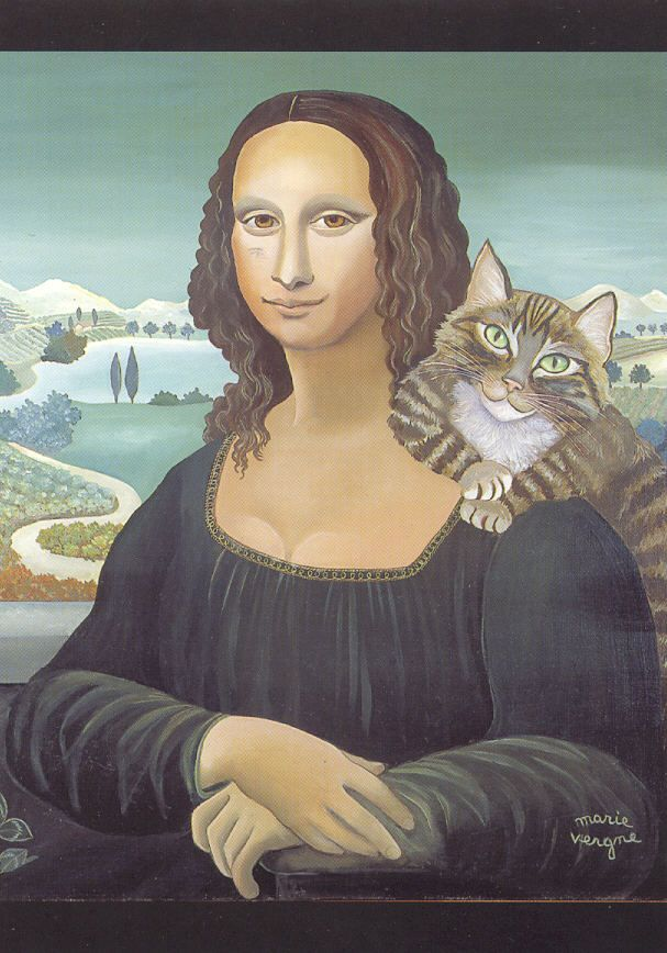 Nouvelle page 1.  Mona and friend. MArie Vergne