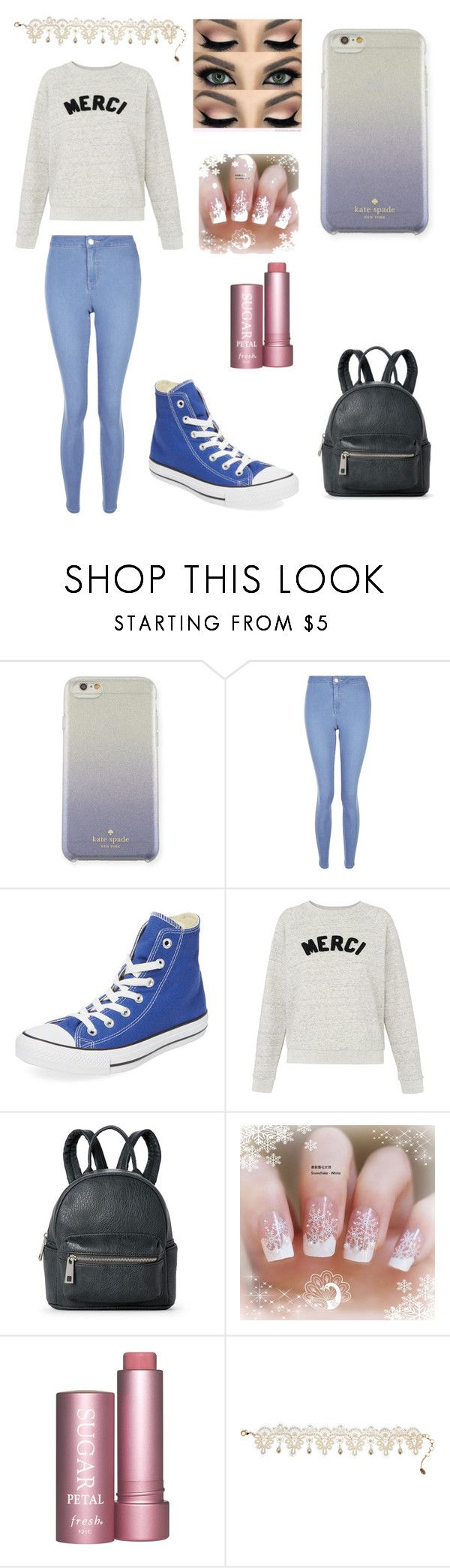 """""""panromantic pride"""" by denellablackthorn on Polyvore featuring Kate Spade, New Look, Converse, Whistles, Street Level and Amrita Singh"""