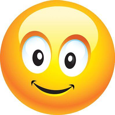 CC - smiley jaune content - émoticône clipart cartoon - téléchargement gratuit et sans inscription