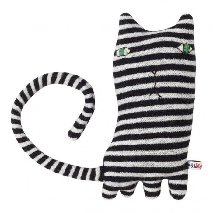 Donna Wilson zwart wit knuffel Mono cat