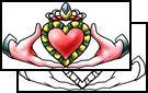 claddagh Tattoos, irish Tattoos, good-luck Tattoos, goodluck Tattoos, good Tattoos, luck Tattoos, lucky Tattoos, good-luck-charm Tattoos, go...