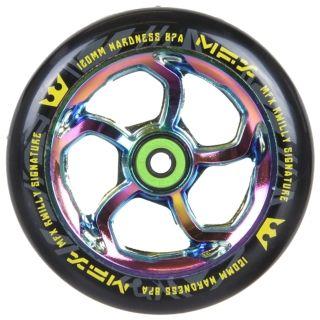 MGP MFX Hurricane Scooter Wheel - R Willy Signature 120mm Neochrome | Scooter Wheels & Brakes | MGP Extreme, MGP Mini Xtreme, MGP Nitro, MGP Ninja, MGP Team Edition, MGP Pro | Brands | Skatehut