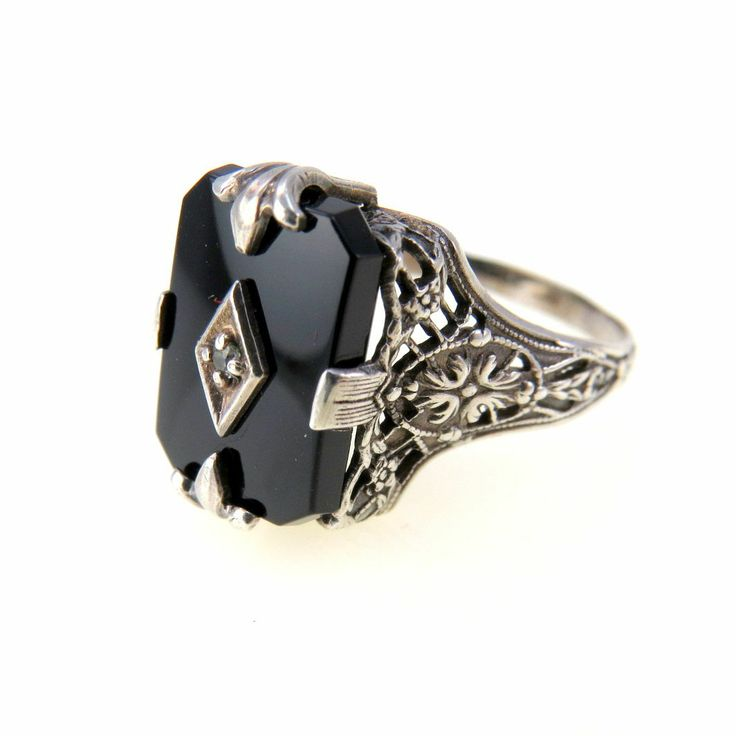 Correctly. vintage onyx rings with you