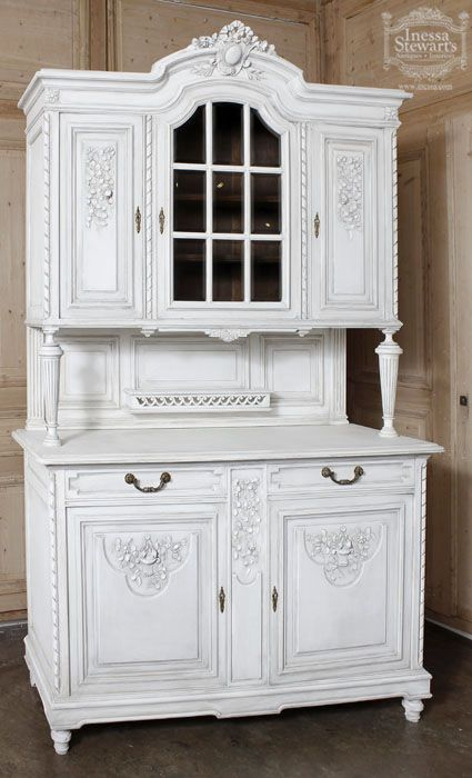 Antique Louis XVI Walnut Painted China Buffet  | Antique Furniture   #antique #french #furniture www.inessa.com