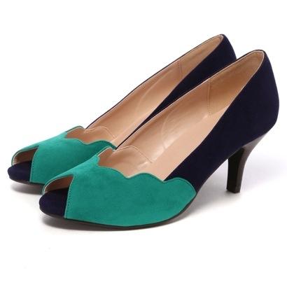 アンライプ unLipe クラウドパンプス(エメラルドグリーン)-「買ってから選ぶ。」靴とファッションの通販サイト ロコンド  LOCONDO.jp