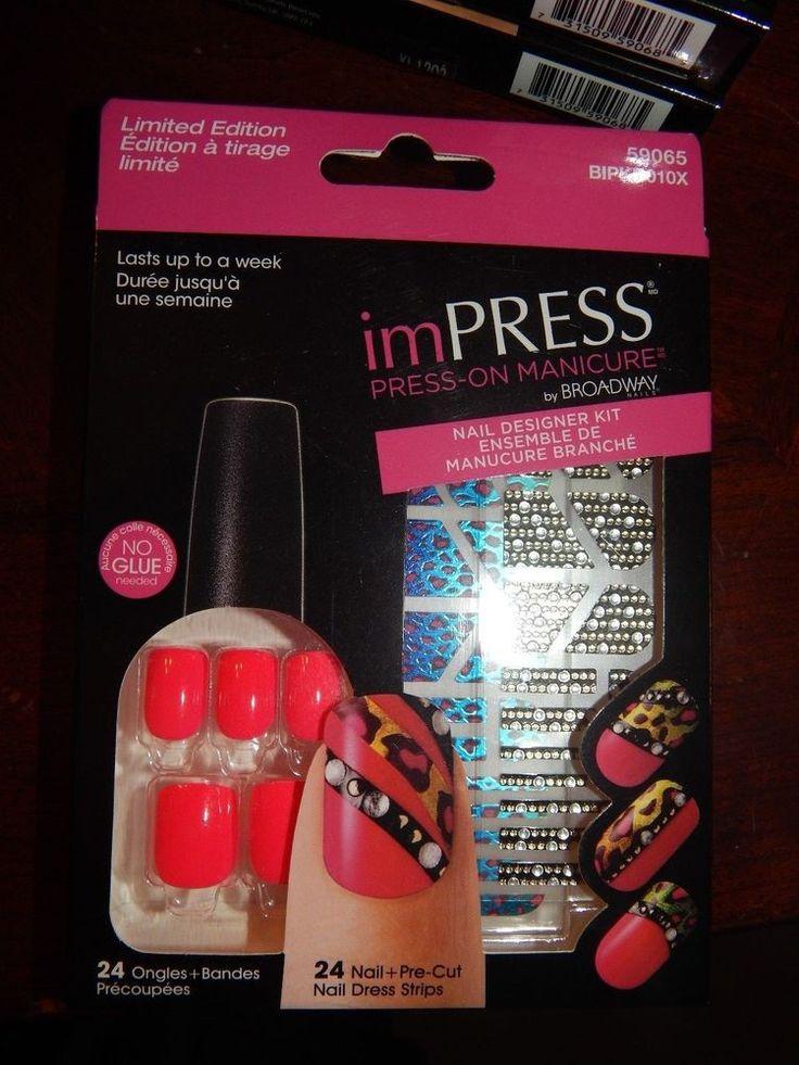 KISS Broadway imPRESS Nails, Press On Manicure Nail Designer Kit, Cha-Cha, Pink #KissBroadwayNailsimPress