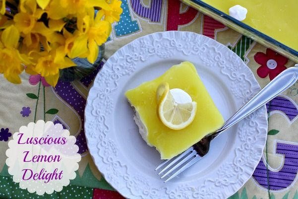 Mommy's Kitchen - Home Cooking & Family Friendly Recipes: Luscious Lemon Delight {Easy Easter Dessert}