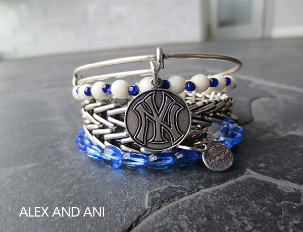 Re-pin New York Yankees for a chance to score a $100 Alex and Ani e-Gift Card!  How can you not love the Yankees and Alex & Ani?  I really want this. Maybe the hubby will get the hints I'm going to throw down?? Wink wink, nudge, nudge?